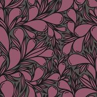 Grey seamless background with purple paisley pattern vector
