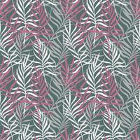 Gray background with colorful palm leaves vector