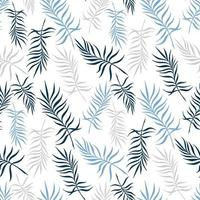 White background with delicate palm leaves vector