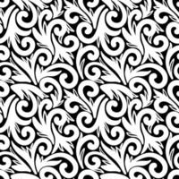 Black seamless background with white elements vector