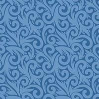 Blue seamless background with large elements vector