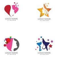 mujer, cara, silueta, carácter, ilustración, logotipo, icono, vector, conjunto vector