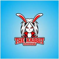 Beautiful rabbit goddess vector