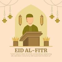 eid al-fitr tarjetas de felicitación vector