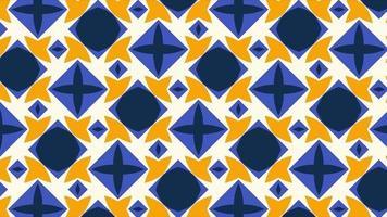 padrão de formas geométricas multicoloridas em retrô