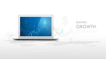 Stock and Graph design background. Business graph banner design eps10 vector. Illustration. vector