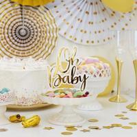 Vista frontal hermoso concepto de baby shower foto