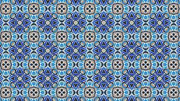 padrão de formas geométricas multicoloridas em fundo abstrato vintage animado