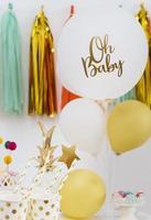 decoraciones de baby shower con globos foto