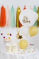 Baby shower with streamers and balloons photo
