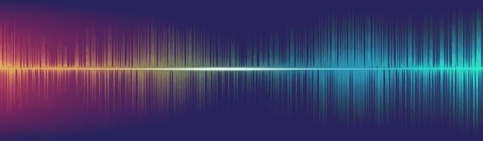 ecualizador de fondo de onda de sonido digital, vector