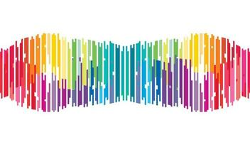 Abstract Mini Colorful Digital Sound Wave Background vector