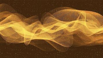 tecnología de onda de sonido digital de oro oscuro vector