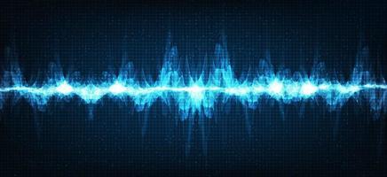 onda de sonido electrónica vector