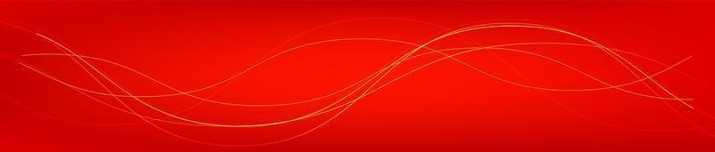 panorama de onda de sonido digital rojo vector