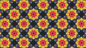 patrón de formas geométricas multicolores en retro video