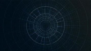fondo de tecnología cibernética vector