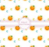 Cute orange seamless pattern. Cute fruits pattern vector