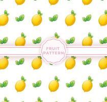 Cute lemon seamless pattern. Cute fruits pattern vector