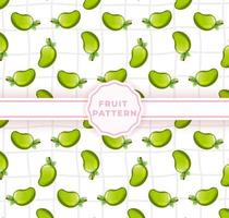 Cute mango seamless pattern. Cute fruits pattern vector