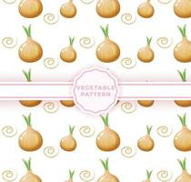Cute onion seamless pattern. Cute vegetable pattern vector