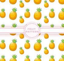 Cute pineapple seamless pattern. Cute fruits pattern vector