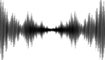 Ola de terremoto negro sobre fondo de papel blanco vector