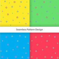 Colorful geometrical shapes seamless pattern design vector