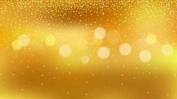 Golden bokeh background with glitter effect vector