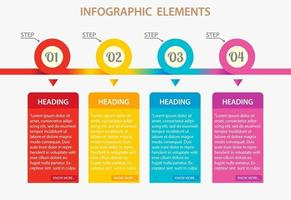Colorful infographic steps design vector