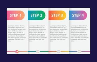 Colorful infographic steps flat design vector