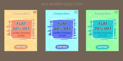 Discount offer sale banner collection vector