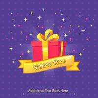 Giveway template design with gift box vector