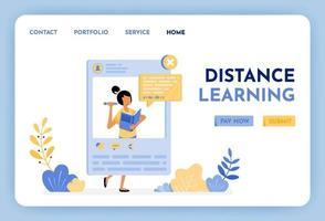 las mujeres enseñan matemáticas en las redes sociales. la educación a distancia es el futuro de la educación. plataforma de aplicaciones de educación y aprendizaje para estudiantes y escuelas. ilustración para página de destino, web, sitio web, póster, interfaz de usuario vector