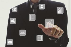 Businessman digital concept photo