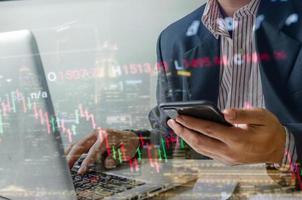 Stock market concept photo