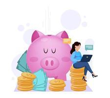 banca, pagos online. concepto financiero vector