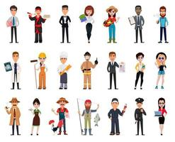 People of different professions set vector