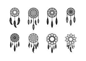 vector de plantilla de diseño de icono de atrapasueños