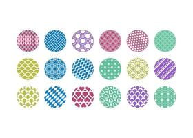 Abstract circle background icon design template vector