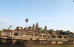 Siem Reap, Cambodiam, 2021 - Tourists at The Angkor Wat