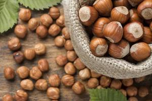 Vista de cerca de la disposición del concepto de frutos secos. resolución y hermosa foto de alta calidad