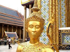 Bangkok, Thailand, 2021 - Golden statue at The Wat Phra Kaew