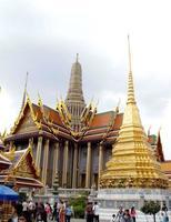 Bangkok, Thailand, 2021 - Tourists visiting The Wat Phra Kaew