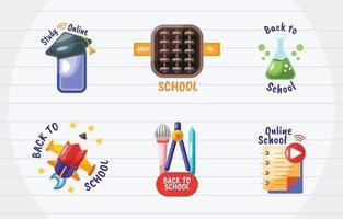 School Sticker Set vector