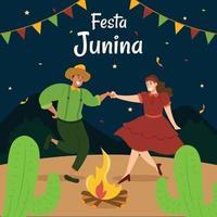celebración del festival festa junina vector