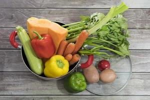 Fresh vegetables for soup photo