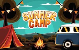 fondo de campamento de verano vector