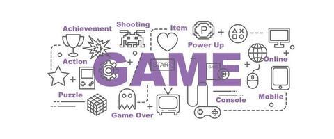 banner de vector de juego
