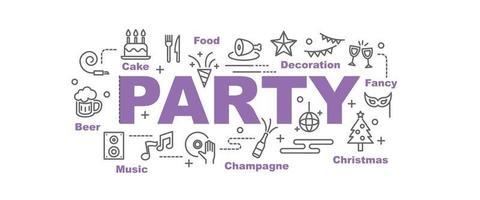 banner de vector de fiesta